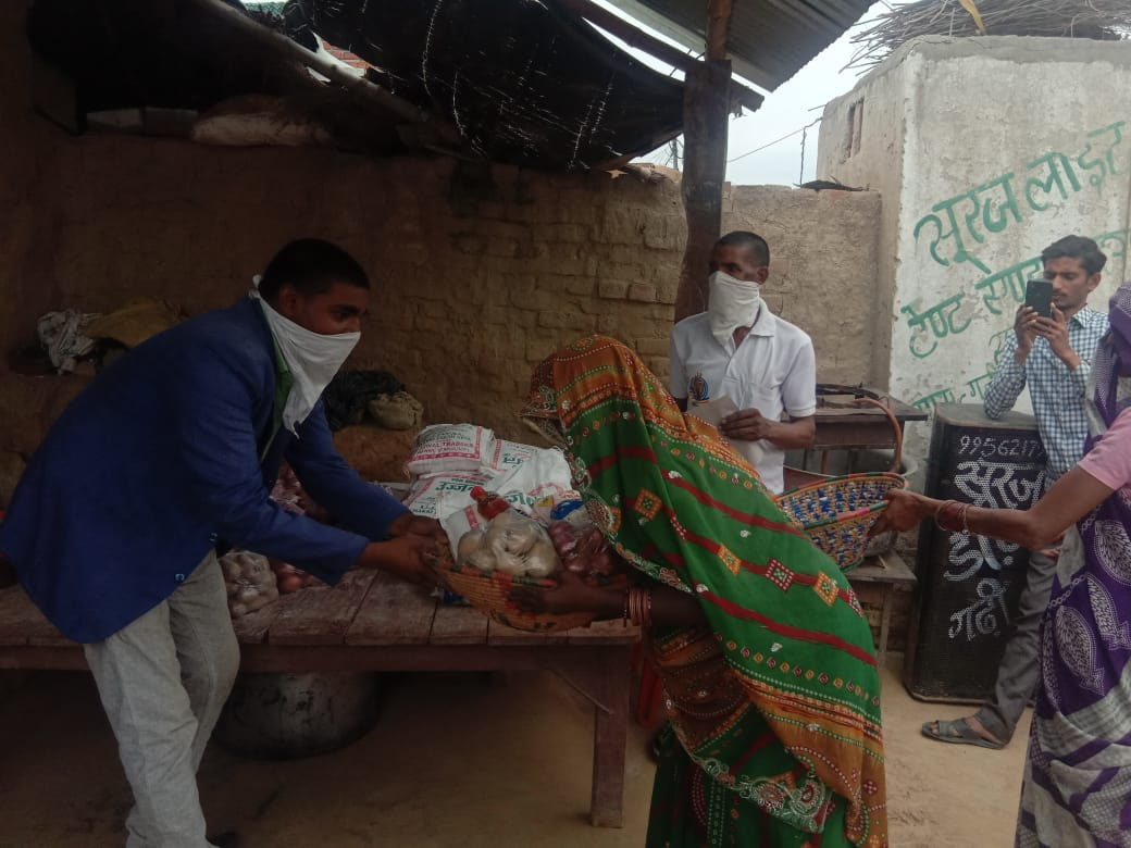 You are currently viewing Ration Distribution in Biswan, Sitapur, Uttar Pradesh