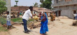 Food Distribution in Fatehpur, Gaya, Bihar