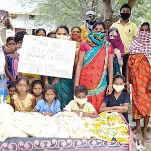 Food Distribution in Kalahandi, Odisha