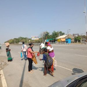 Mask Distribution in Nagpur