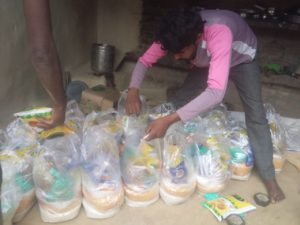 Ration distribution at Manpuri, Uttar Pradesh