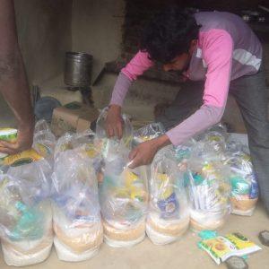 Ration distribution at Manpuri, Uttar Pradesh