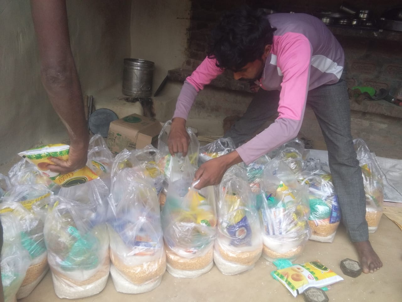 Ration distribution in Manpuri, Uttar Pradesh