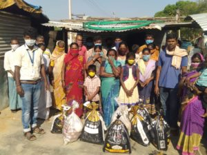 Food distribution at Srinivasapura, Kollar, Karnataka