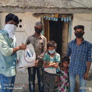 Dry ration distributed at Nizamabad, Telangana