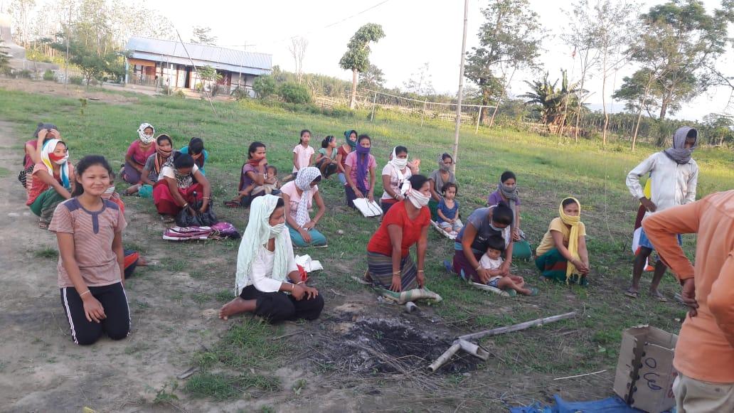 Ration distribution in Bijoypur, Arunachal pradesh