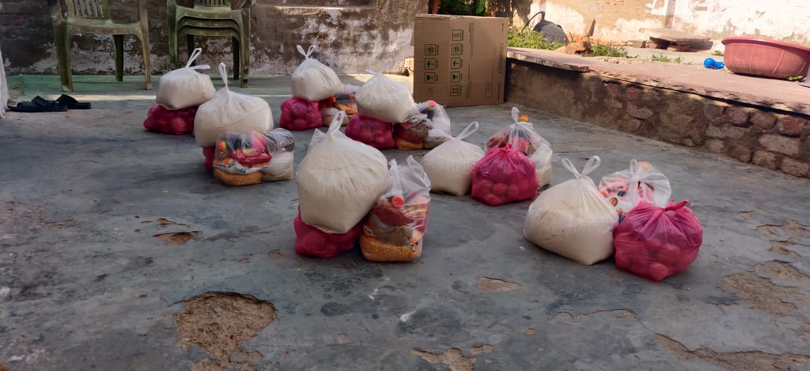 Ration Distribution at Alwar, Rajasthan