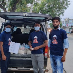 Raw Ration distributed at Alwar, Rajasthan