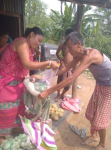 Ration distribution in Dhalai, Tripura