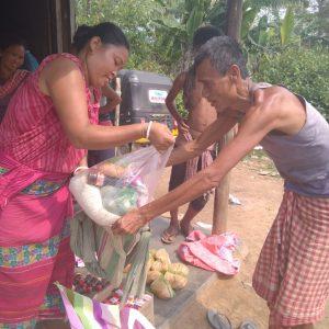Ration distribution in Dhalai, Tripura