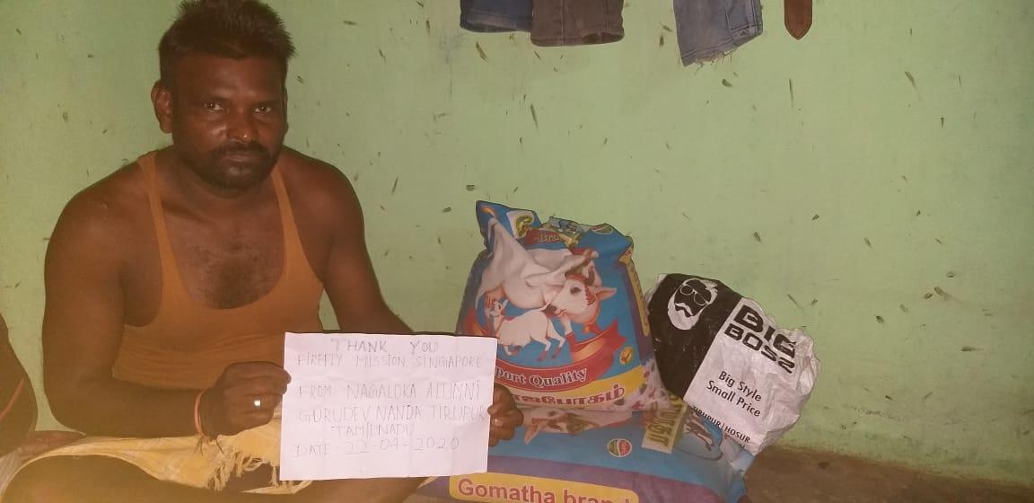 Ration provided in Tiruppur, Tamil Nadu