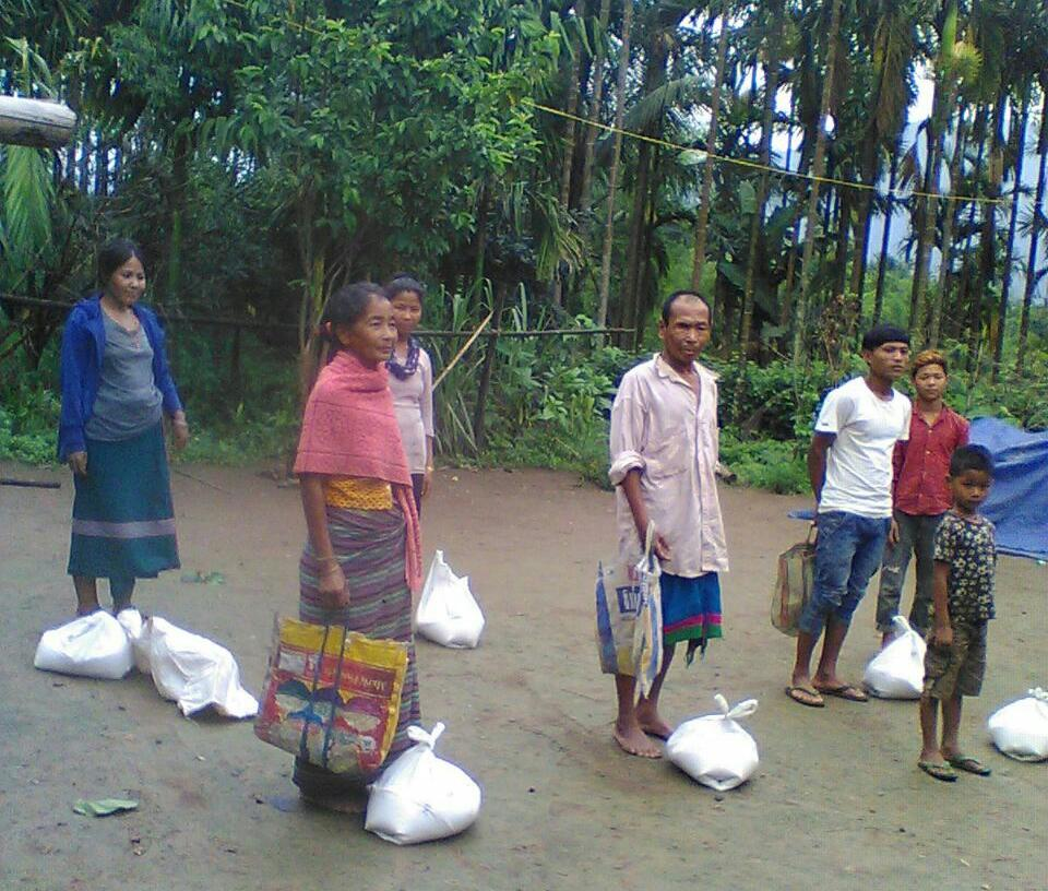 Ration Distribution at Changlang, Arunachal Pradesh