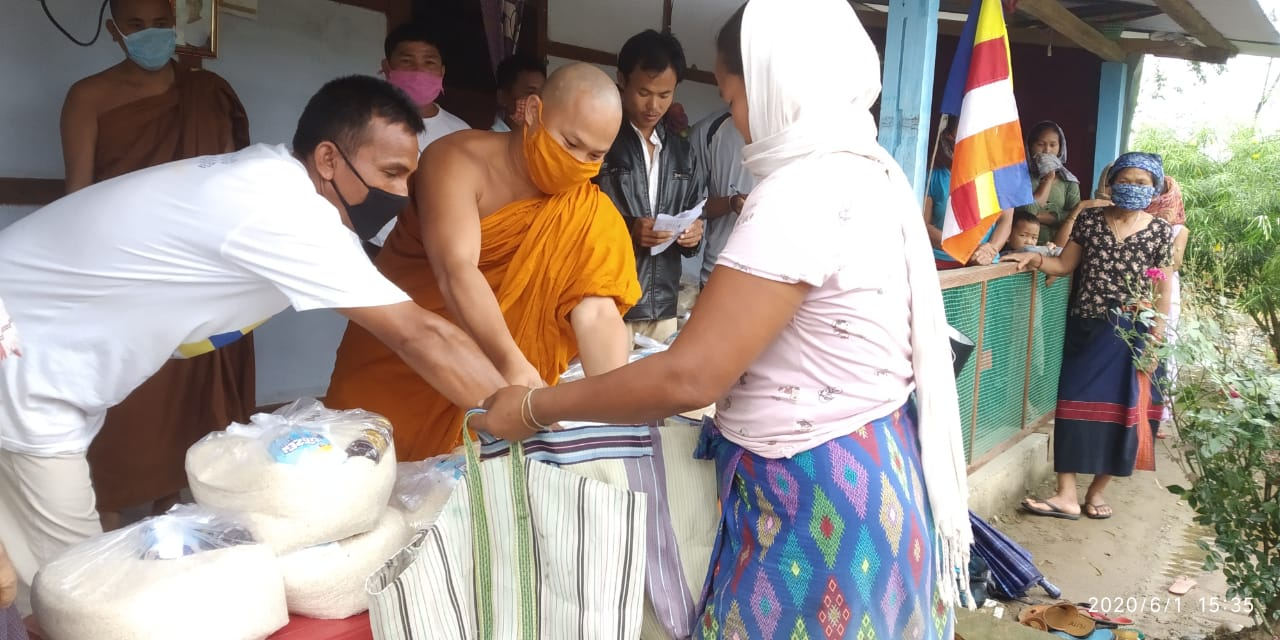 Ration Distribution at Bijoypur, Arunachal Pradesh