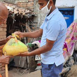Ration Distribution at Bodhgaya, Bihar