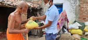 Ration Distribution at Bodhgaya, Bihar