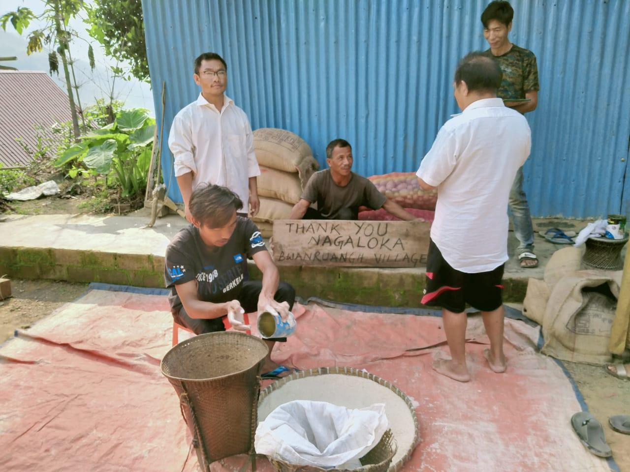 Ration Distribution at Tamenglong, Manipur