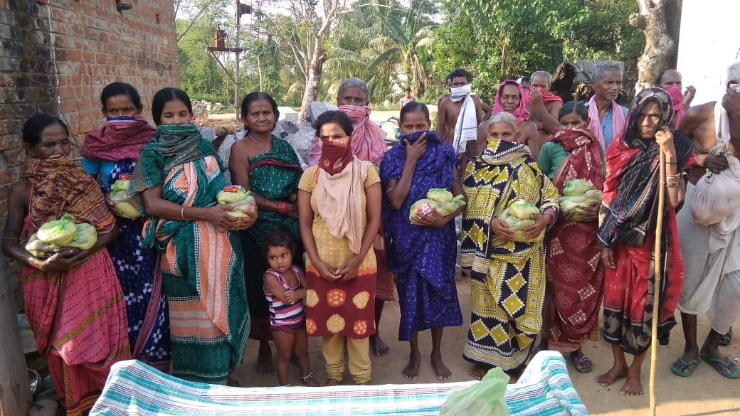 Ration Distribution at Sonepur, Odissa