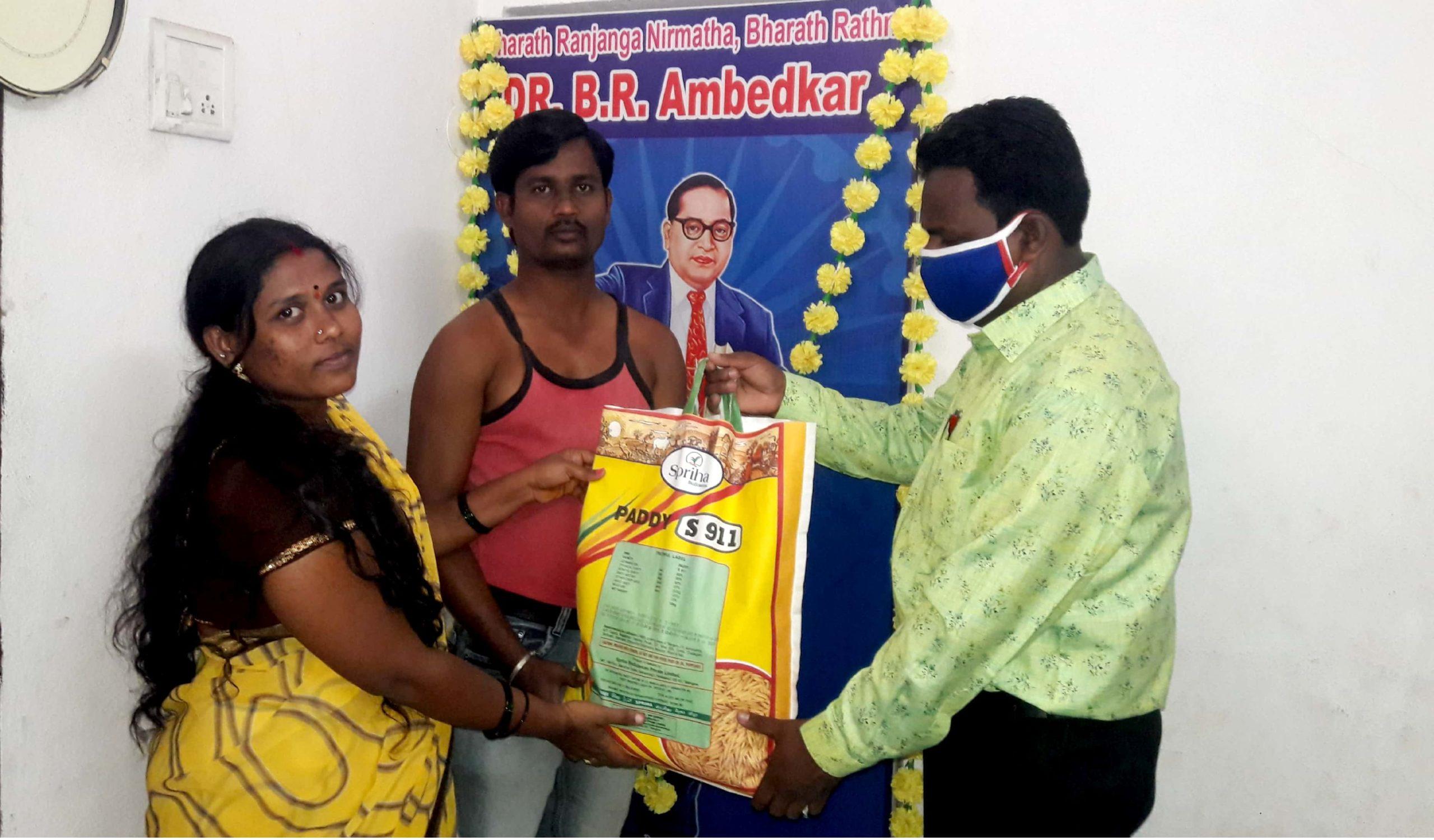 Ration Distribution at Nizamabad, Telangana