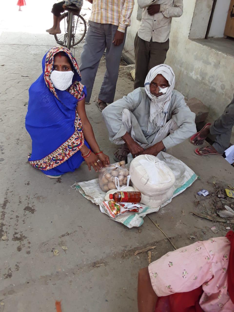 You are currently viewing Ration Distribution at Badaun, Uttar Pradesh