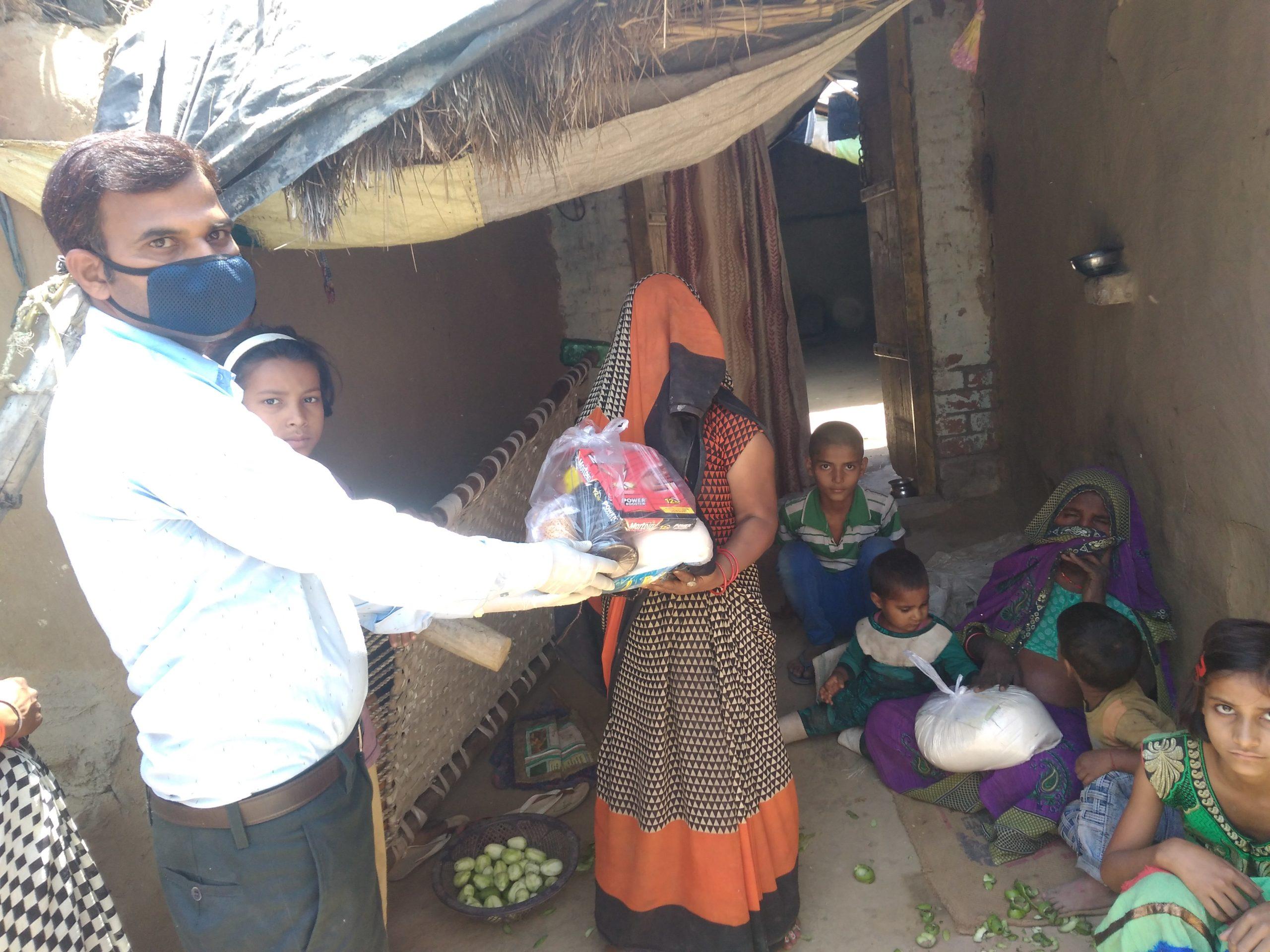 Ration Distribution at Mainpuri, Uttar Pradesh