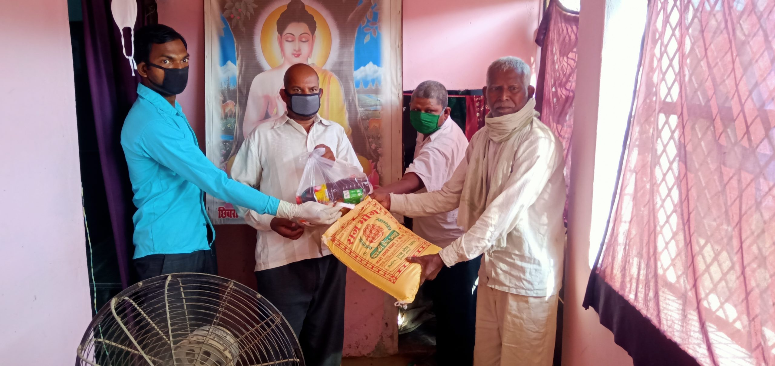 Ration Distribution at Kannuaj, Uttar Pradesh