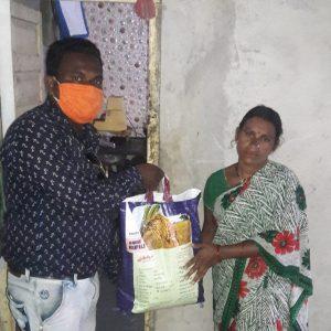 Relief work in Nizamabad, Telangana