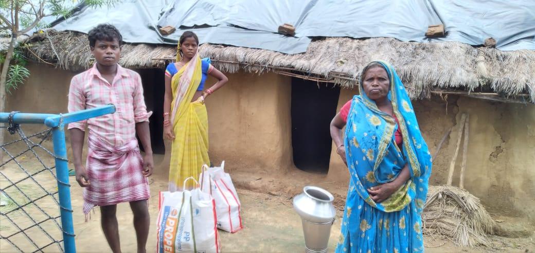 Ration Distribution at Fatehpur, Gaya, Bihar