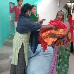 Blanket distribution at Kosmanda Janjgir, Chhattisgarh