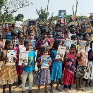 Blanket and Eucation Kit Distribution at Sagjore Village, Odisha