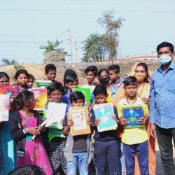 Education Kit and Blankets Distribution at Raipur-Chhattisgarh