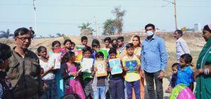 Education Kit and Blankets Distribution at Raipur- Chhattisgarh