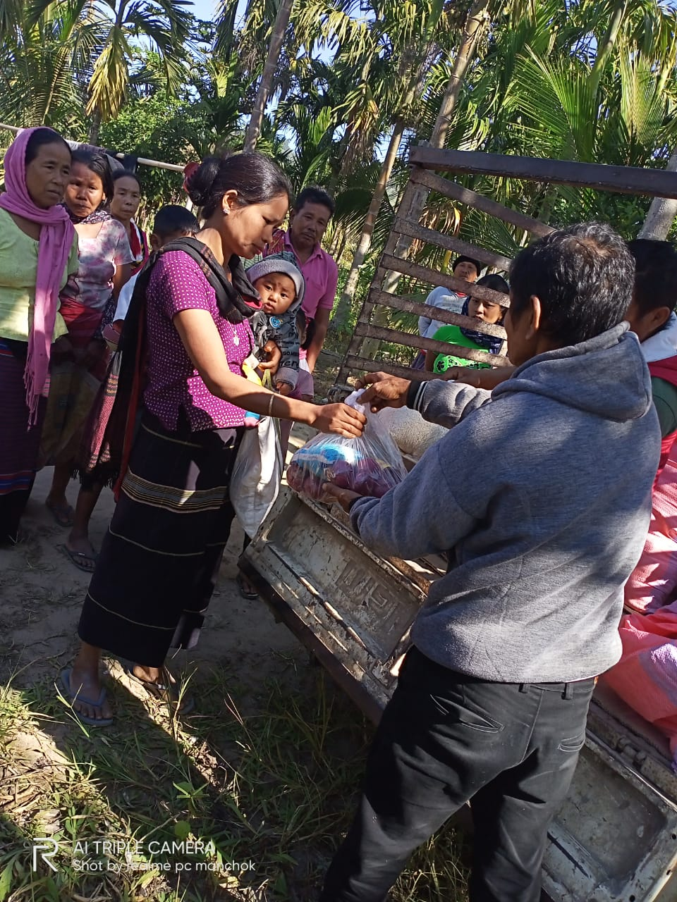 Ration Distribution at Diyun- Arunachal Pradesh