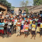 Blanket and Educational kit distribution at Panigaon, Kalahandi, Orissa