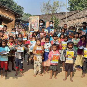 Blanket and Educational kit distribution at Panigaon, Kalahandi, Orissa