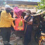 Groceries Kit Distribution at Gajulpet Municipal Circle Nizamabad