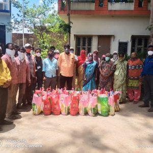 Groceries Kit Distribution at Nizamabad Nakal Radio Station