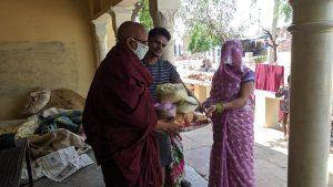 Dry Ration Kit Distribution at Shrinagar, Bharatpur