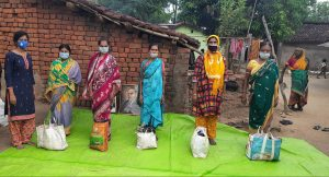 Ration distribution at Kalahandi, Orissa