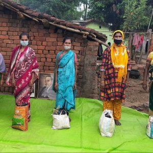 Ration distribution at Kalahandi, Orissa