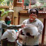 Relief work at Yerawada, Pune