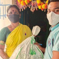 Ration Kit Distribution to Covid19 Positive Familes at Annojiguda Village- Telangana