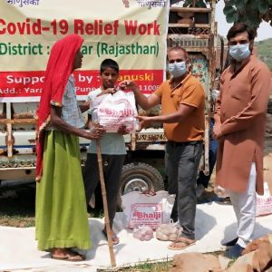 Ration Kit Distribution to Daily Wagers at Alwar -Rajasthan