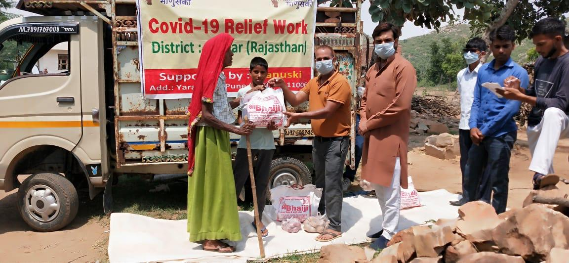 You are currently viewing Ration Kit Distribution to Daily Wagers at Alwar -Rajasthan