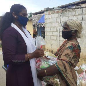 Ration Kit distribution to daily wagers and labours at Perumallapalli village- Andra Pradesh