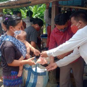 Ration Kits Distribution at Udaipur, Changlang, Arunachal Pradesh