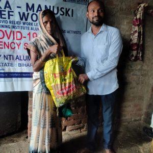 Ration Kit distribution to Widows and Daily Wagers at Gaya- Bihar
