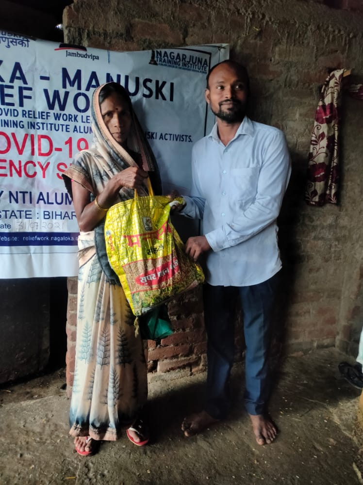 You are currently viewing Ration Kit distribution to Widows and Daily Wagers at Gaya- Bihar
