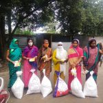 ration Kit distribution for Asha Health workers Daily waged labours at Talegaon-Maharashtra