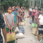 Ration Distribution for daily wagers at Changlang, Arunachal Pradesh