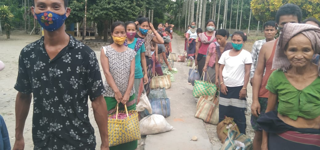 You are currently viewing Ration Distribution for daily wagers at Changlang, Arunachal Pradesh